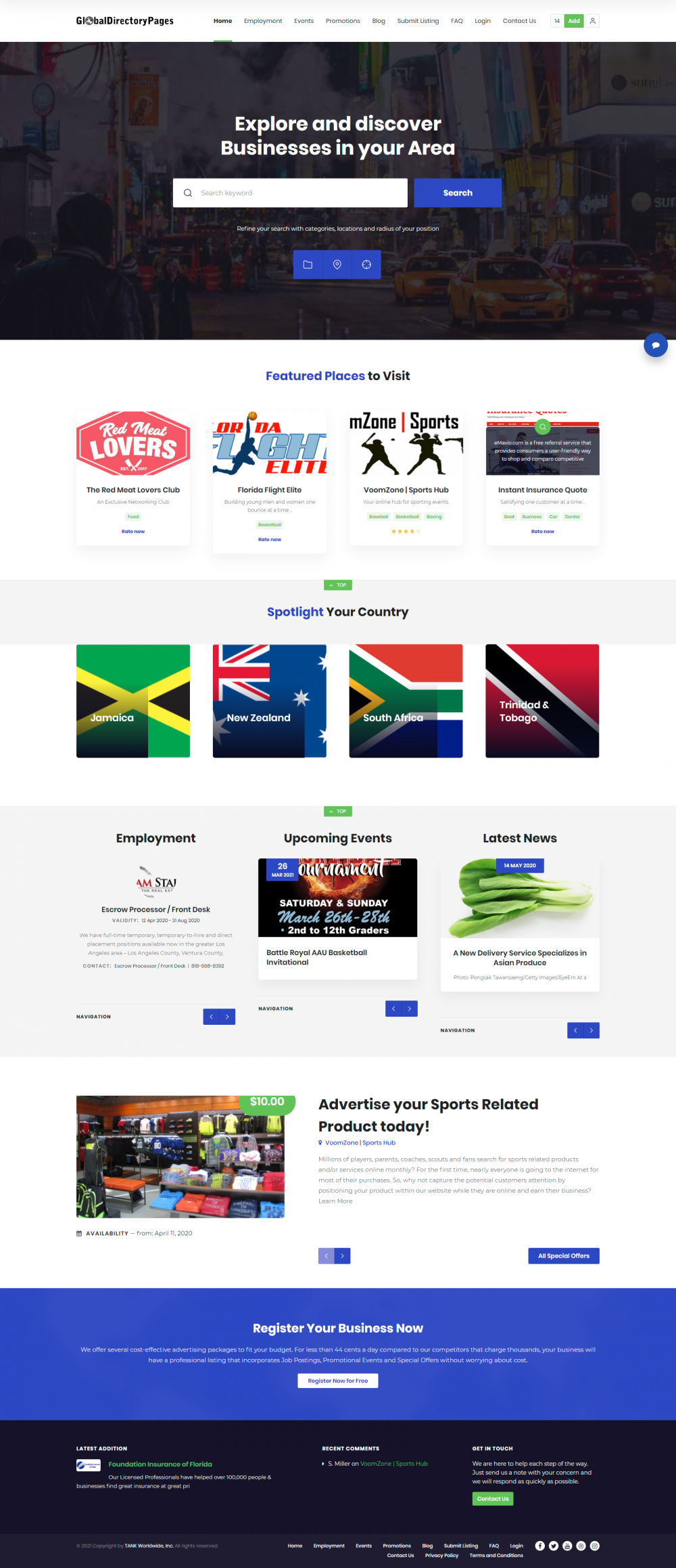 Global Directory Pages